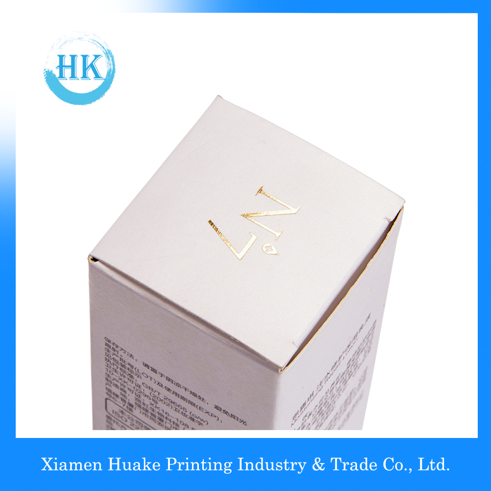 corrugated makeup paper box with hot-bronzing